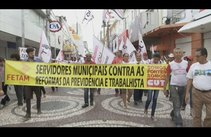 Protesto contra as Reformas do Governo Federal fecha o Centro de Aracaju