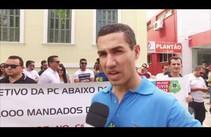 Excedentes de concurso da Polícia Civil fazem protesto na SSP/SE