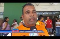 Servidores da saúde de Aracaju ocupam o Nestor Piva