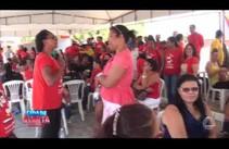 Professores de vários municípios de Sergipe protestam em frente ao TCE