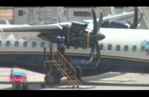Turbina de avião da Azul pega fogo e piloto faz pouso de emergência