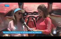 Segunda- feira de carnaval deu praia em Aracaju