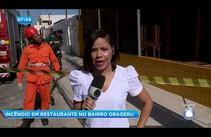 Restaurante no bairro Grageru pega fogo