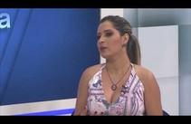 Jornalista e apresentadora Jaquelline Cruz - 14/03/18 - Bloco 01