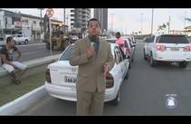 Motoristas fazem nova manifestação contra o preço da gasolina em Aracaju