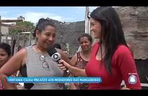 Ventania causa prejuízo aos moradores das Mangabeiras