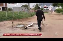 Obra de esgotamento sanitário está abandonada no Augusto Franco