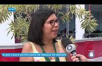 SES informa os casos de dengue em Sergipe