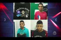 Três homens são presos acusados de roubo na cidade de Arauá