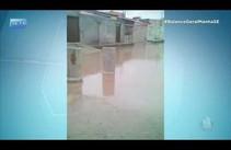 Chuvas provocam alagamento no conjunto Fernando Collor, em Socorro