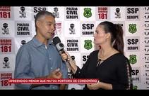 SSP fala sobre menor apreendido por matar porteiro de condomínio na zona norte de Aracaju