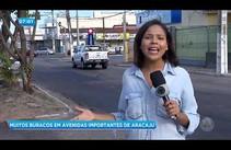 Condutores reclamam de buracos em avenidas importantes de Aracaju