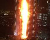 Incêndio atinge hotel de luxo em Dubai