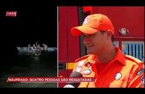 Quatro pessoas são resgatadas após naufrágio no rio Vaza Barris