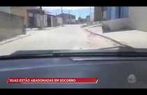 Ruas estão abandonadas em Socorro