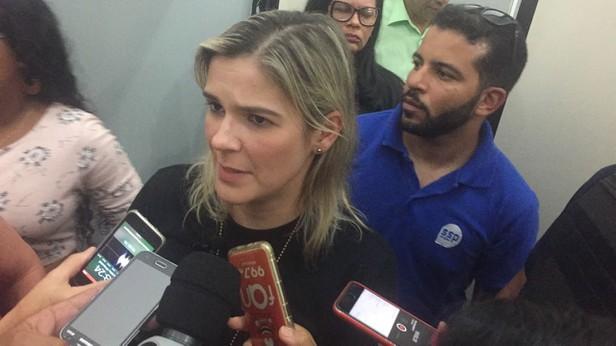 Foto: Aline Aragão Operação Fênix, delegada Mayra Evangelista detalhou a operação