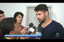 Governador Jackson Barreto recebe a visita do jogador de futebol Diego Costa