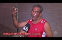 Trabalhador recebe descarga elétrica no Centro de Aracaju