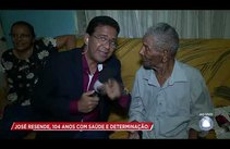 Telespectador de 104 anos é fã do Cidade Alerta