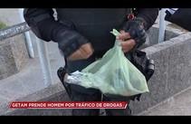 Getam prende homem por tráfico de drogas