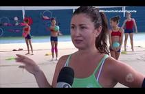 Técnica russa Alsu Gatina vem pela terceira vez a Sergipe treinar jovens ginastas