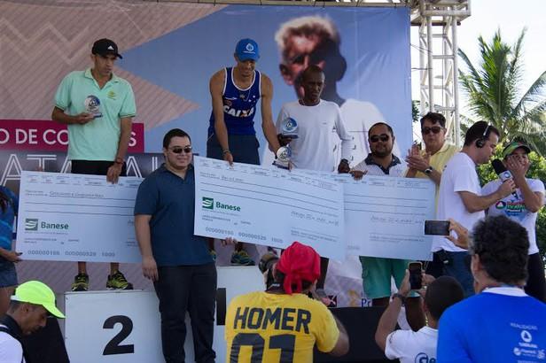 Primeiros colocados, categoria masculina dos 5 km